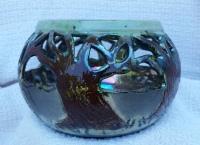 raku tree bowl